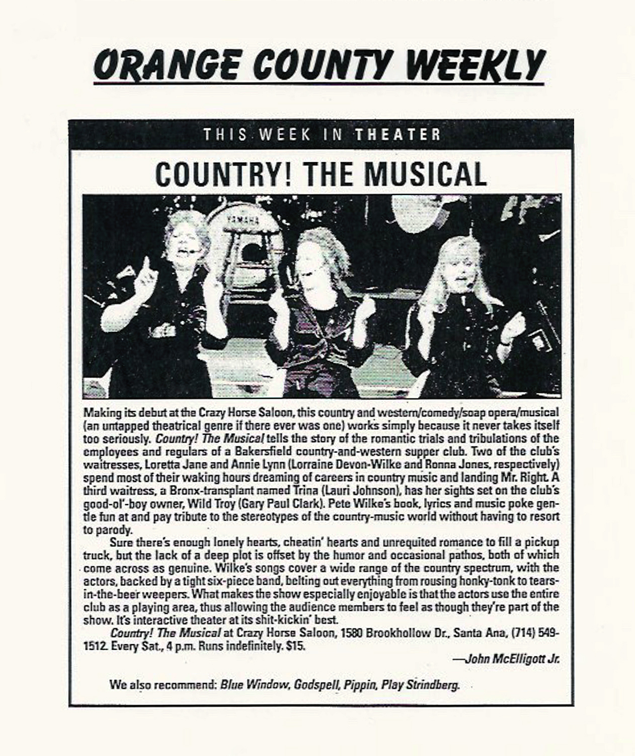 Orange County Weekly review